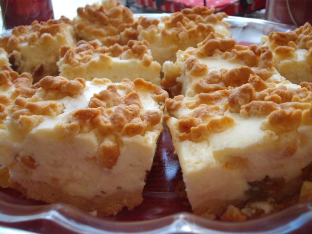 DSCF8885 - עוגת גבינה בפירורים זהובים נמסה ורכה כמו בסיפורים