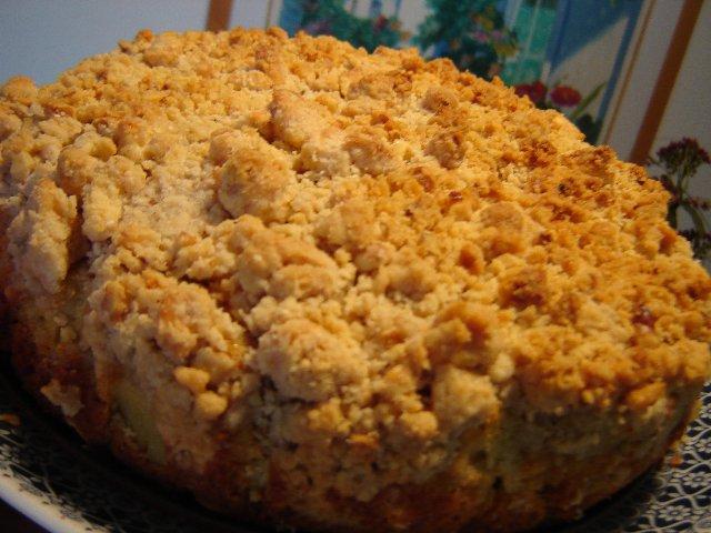 d7aad7a4d795d797d799d79d d7a9d798d7a8d795d799d799d796d79c - עוגת תפוחים עם שטרוייזל חלבה אגוז ותפוח