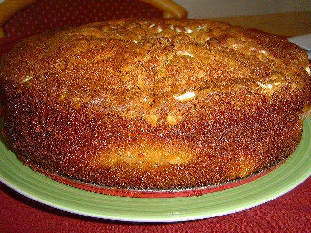 d790d7a4d7a8d7a1d7a7d799d79d d791d797d795d7a9d794 - עוגת אפרסקים בחושה מצופה בשוקולד צ'יפס לבן וקינמון