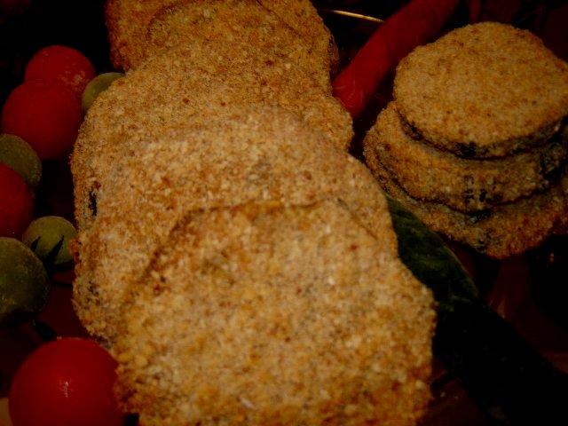 שניצל אפוי - שניצל חצילים עם או בלי שמן - אפוי בתנור