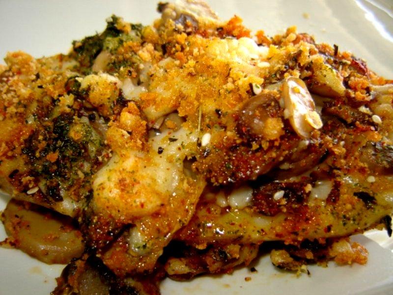 אדמה בפטריות 33 - תפוחי אדמה ממולאים גבינות- אפוי