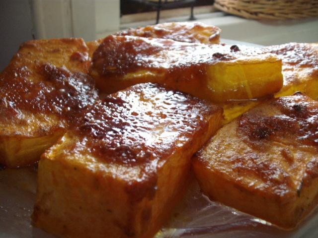 מרק סוכר חום3 1 - נתחי דלעת בתנור