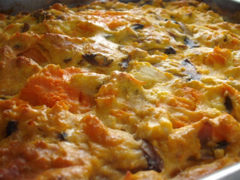 אטריות בטטה - מאפה פסטה פטריות ובטטה עם גבינות