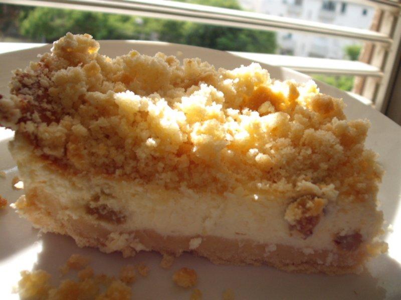 dscf5542 800x6001 1 - עוגת גבינה ודבש אפויה בפירורים