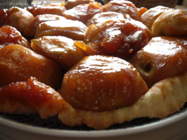 dscf5836 1 - עוגת תפוחים עם קרמל ובצק הפוך