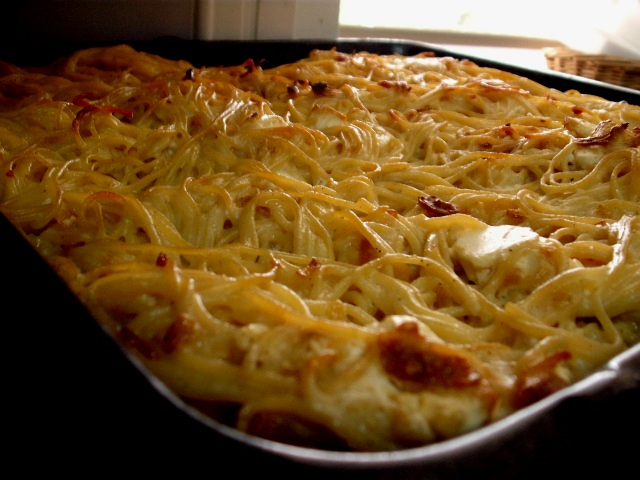 dscf7101 1 - פשטידת ספגטי עם גבינות