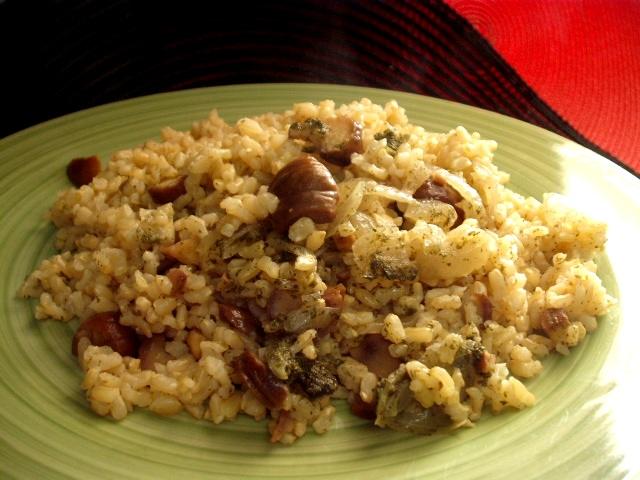 dscf7998 - אורז מלא עם בצל וערמונים