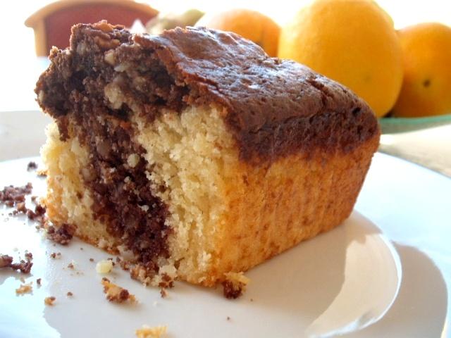 dscf8634 - עוגת שיש שקדים לוטוס