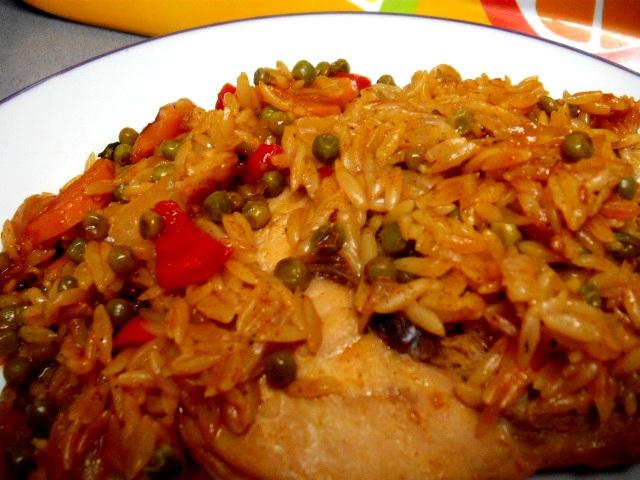 dscf8661 - סטיק עוף עם ירקות ואורז-ארוחת מחבת