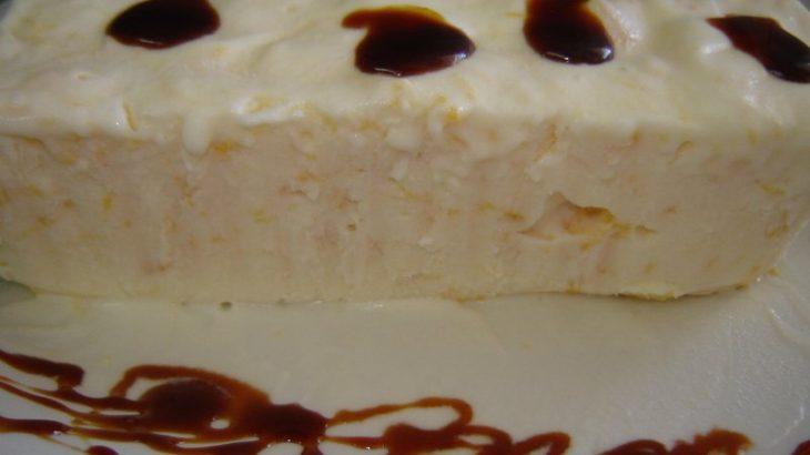 גלידה גבינה אפרסק  730x410 - בוואריה שמנת עם אפרסקים