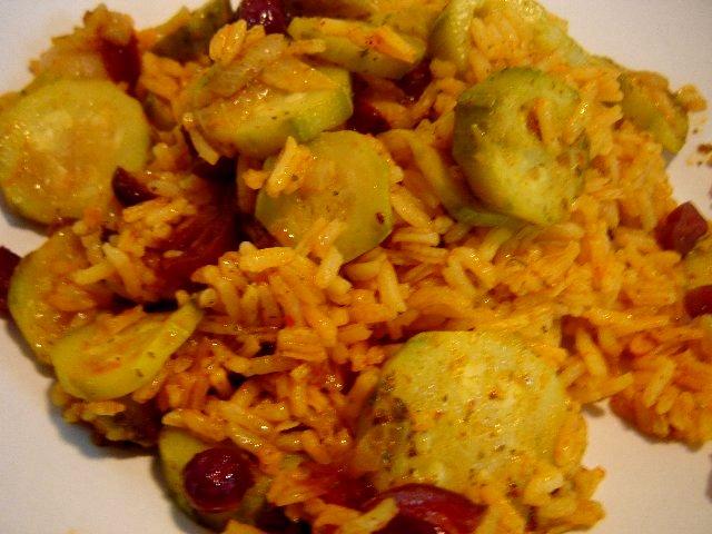 קישואים - אורז טבעוני עם קישואים