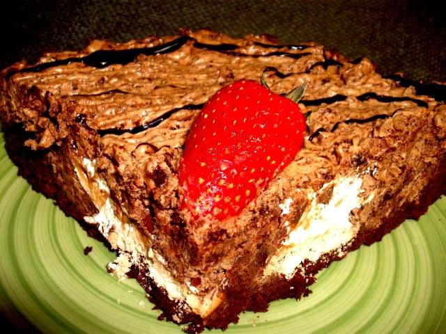 dscf7074 1 - עוגת שוקולד ממולאת במוס שוקולד