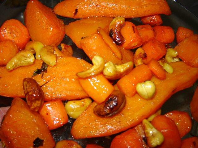 d79bd7aad795d79ed799d79d d790d7a4d795d799 - ירקות כתומים אפויים בסילאן בנגיעה של חלב קוקוס ותפוזים