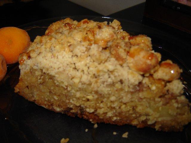 d7aad7a4d795d797 d7a9d798d7a8d795d799d796d79c - עוגת תפוחים עם שטרוייזל חלבה אגוז ותפוח