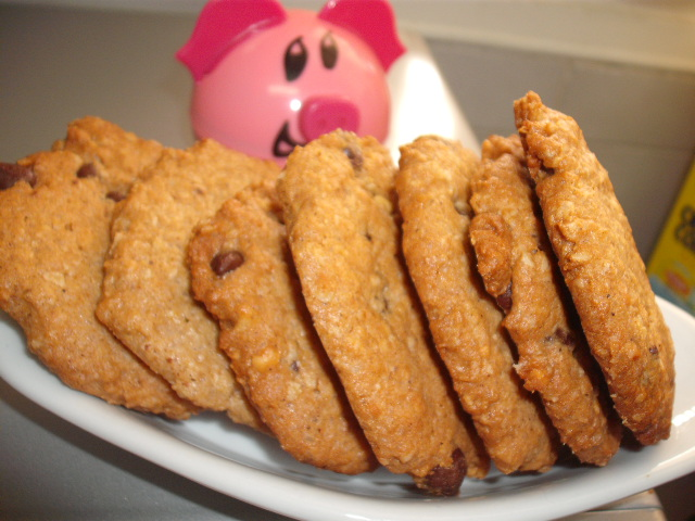 d797d79ed790d7aa - עוגיות שיבולת שועל חמאת בוטנים ושוקו צ'יפס