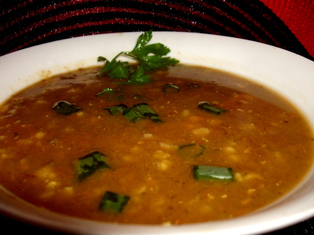dscf8150 - מרק עדשים ירוקות,אורז מלא ובורגול