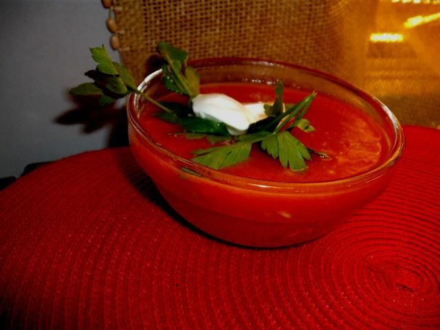 dscf8200 - מרק עגבניות וירקות עם אורז מלא ובורגול