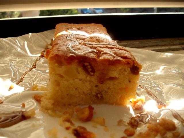 dscf8293 - עוגת מרציפן בדבש ותפוח
