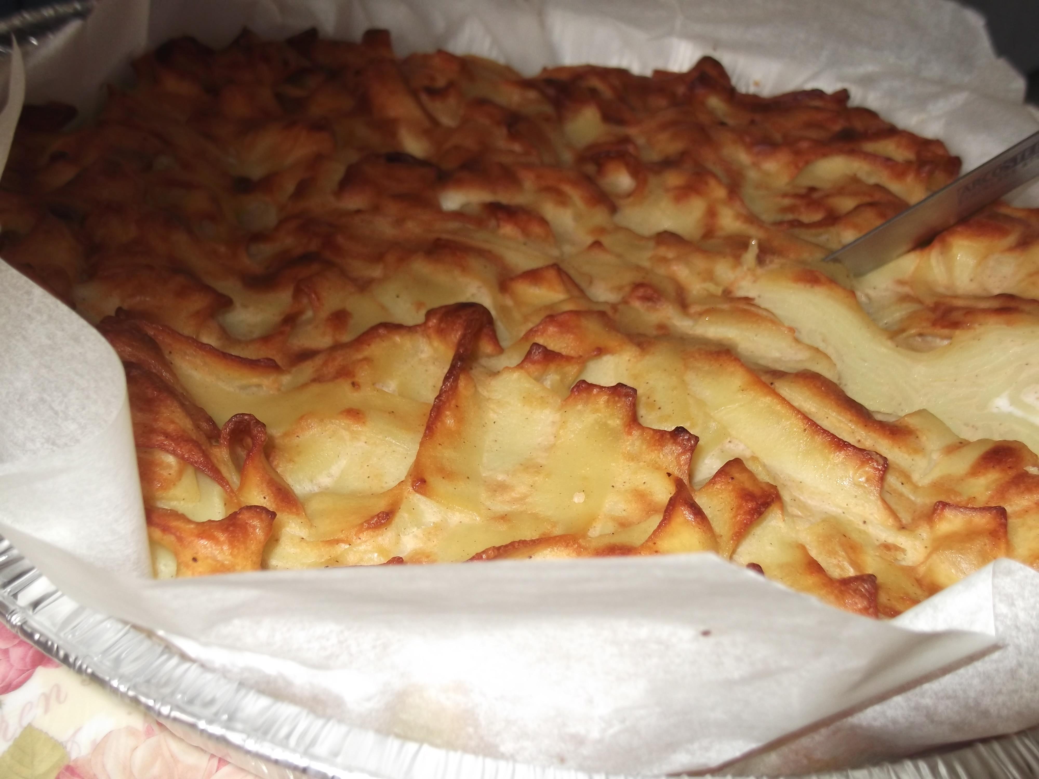 dscf5050 - פשטידת אטריות סבתא עם קינמון ורסק תפוחים